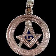 10k & 14k Gold Enamel Masonic Pendant