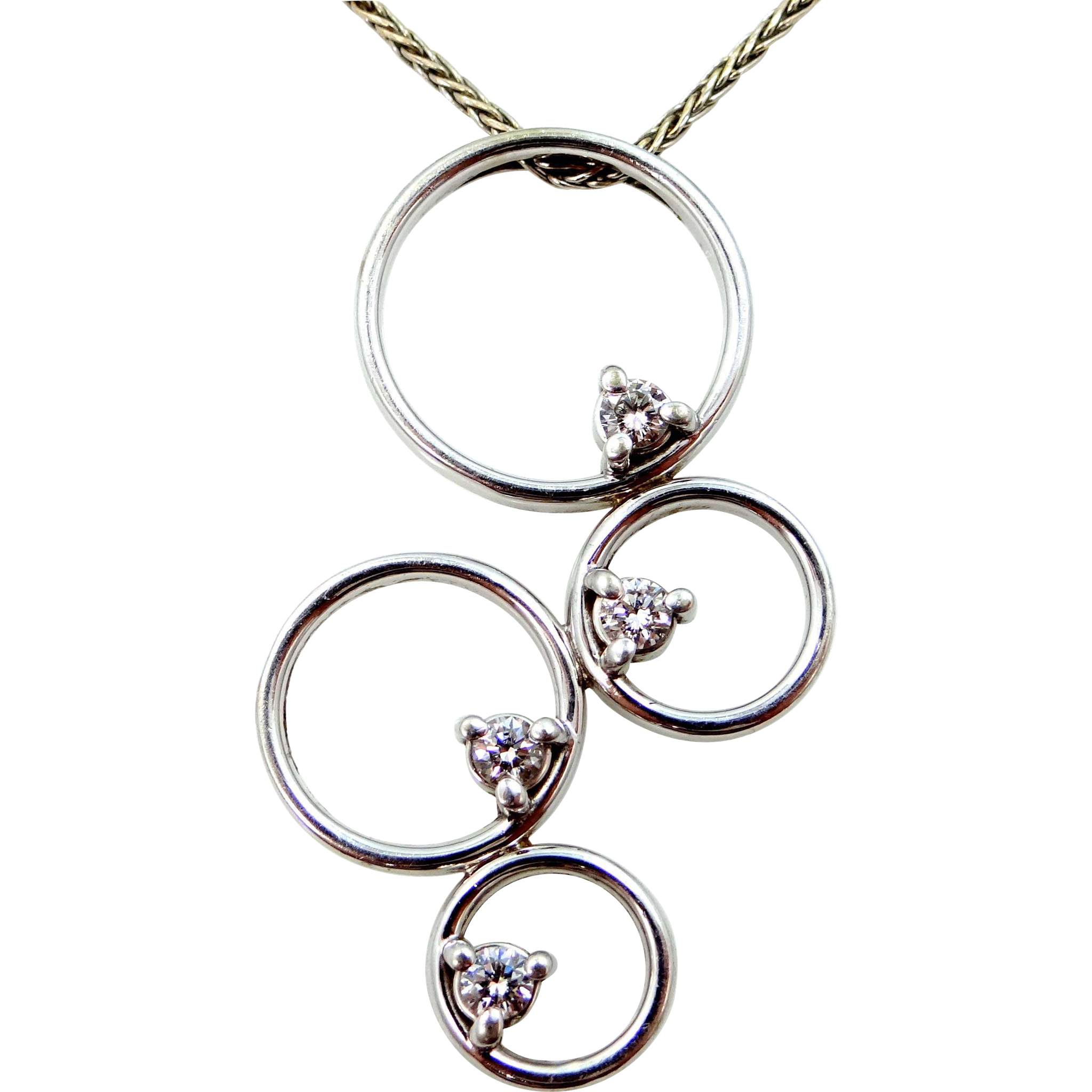 14k White Gold & Diamond MWI Eloquence Necklace