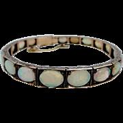 Rare Victorian 10k Rose Gold Opal Bracelet