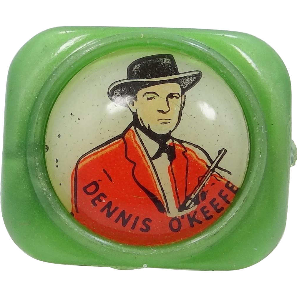 Dennis O'Keefe 1950's Kellogg's Cereal Premium Ring Western Movie Star