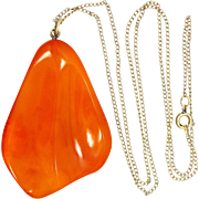 Vintage Egg Yolk Amber Necklace