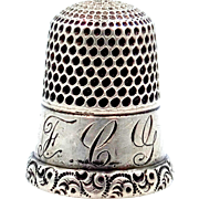 Vintage Sterling Silver Size 8 Thimble
