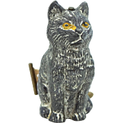 Victorian Germany Metal Seated Cat Tape Measure