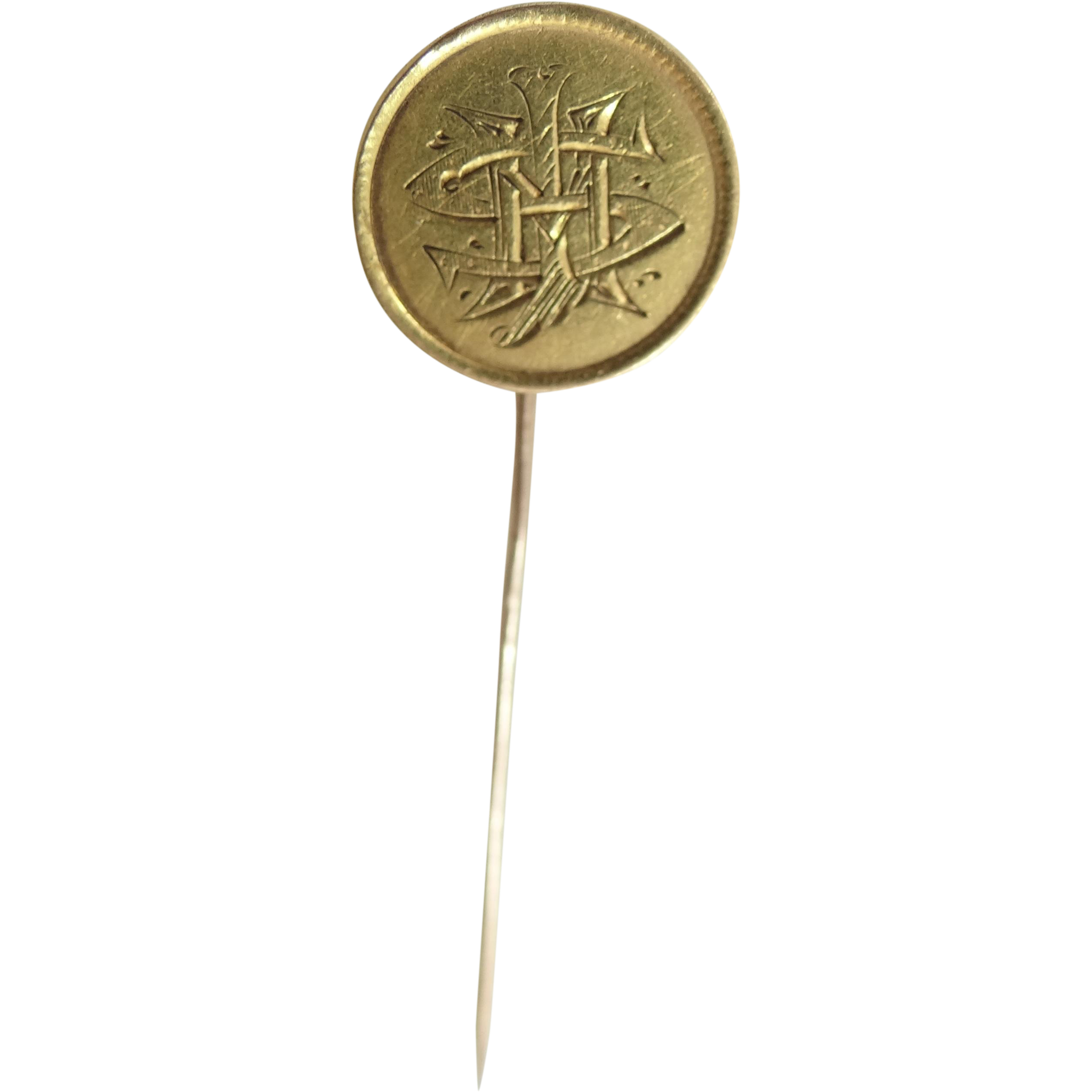 Gold Liberty Dollar Love Token Stick Pin Victorian