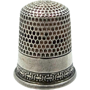 Simons Sterling Silver Size 8 Thimble
