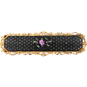 Victorian Inlaid MOP Folding Clasp Mourning Buckle