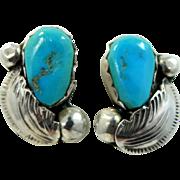 Carmelita Simplicio Zuni Sterling Silver & Turquoise Earrings