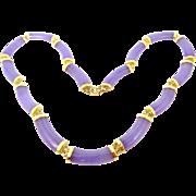14k Gold Lavender Jade Necklace