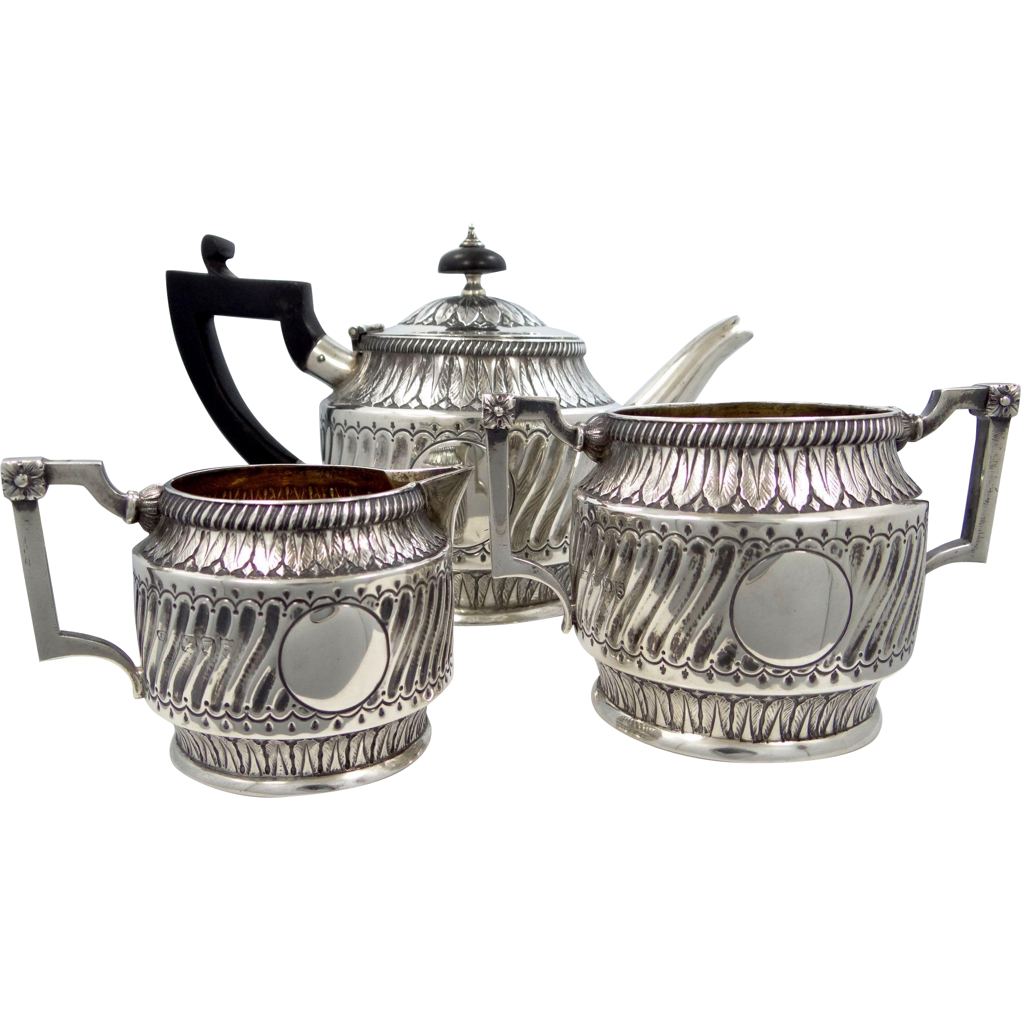 1893 Sterling Silver Tea Set with George Fox London Hallmarks
