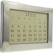 Vintage Tiffany & Co. Sterling Silver Perpetual Calendar