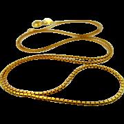 "14k Gold 18"" Long Sturdy Box Link Chain"