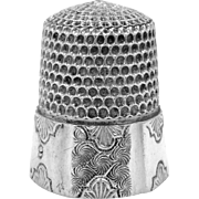 Unusual Vintage Simons Sterling Silver Thimble