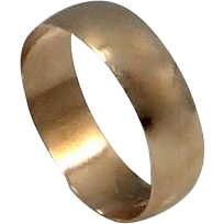 10k Solid Gold Victorian Cigar Band Size 9 Ring