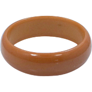 Pumpkin Bakelite Bangle Bracelet