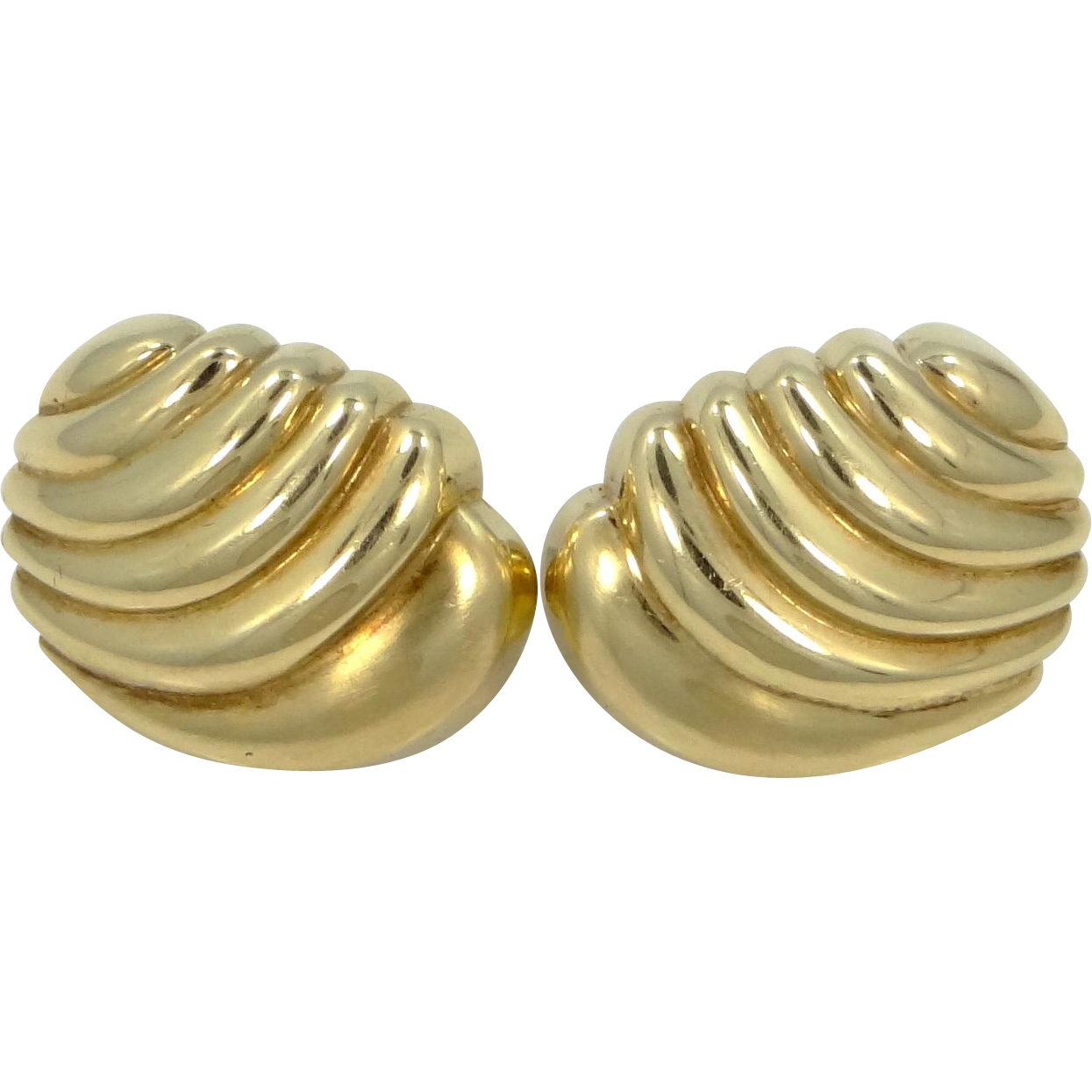 HEAVY 14k Solid Gold Lever Back Earrings 11.7 Grams of Gold