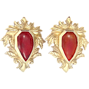 Stephen Dweck Sterling Silver Clip on Earrings 1989