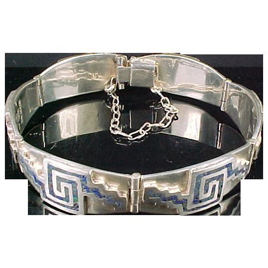 Miguel Melendez Sterling & Turquoise Bracelet