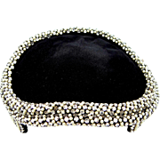 Alfreda Paris and New York Black Velvet Rhinestones Hat