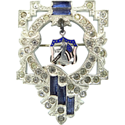 1920's Sons and Daughters of Liberty Art Deco Crystals Enamel Pin