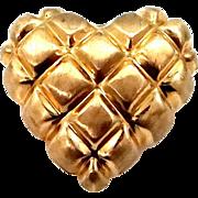 Nice 14k Gold Heart Shaped Slide Pendant