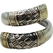 Wallace Sterling Silver Ring in the Aegean Weave Pattern