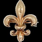 10k Gold Fleur deLis Watch Pin
