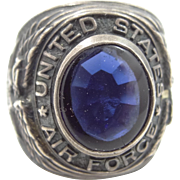WWII Sterling Silver United States Air Force Military Man's Ring Star of David