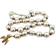 Miriam Haskell Baroque Pearls Necklace Near Mint Condition