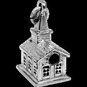 Cute Wells Sterling Stanhope Church Charm Ten Commandments Inside