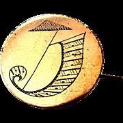 Victorian Kite and Cornucopia Pin