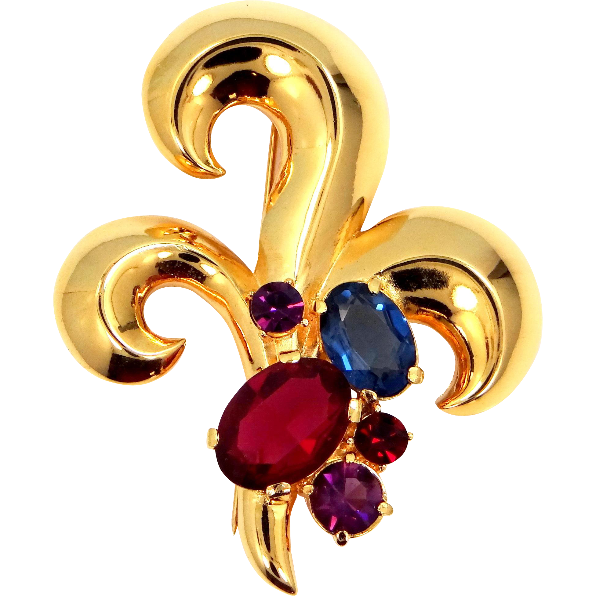 "Carolee Fleur deLis ""Jeweled"" Pin"
