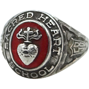 1958 Sterling Silver Sacred Heart School Man's Ring