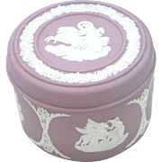 Pretty Lavender Wedgwood Jasperware Trinket Box