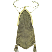 Vintage Art Deco Gold Tone Mesh Purse