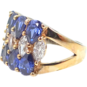 Sterling Vermeil CZ Lady's Ring