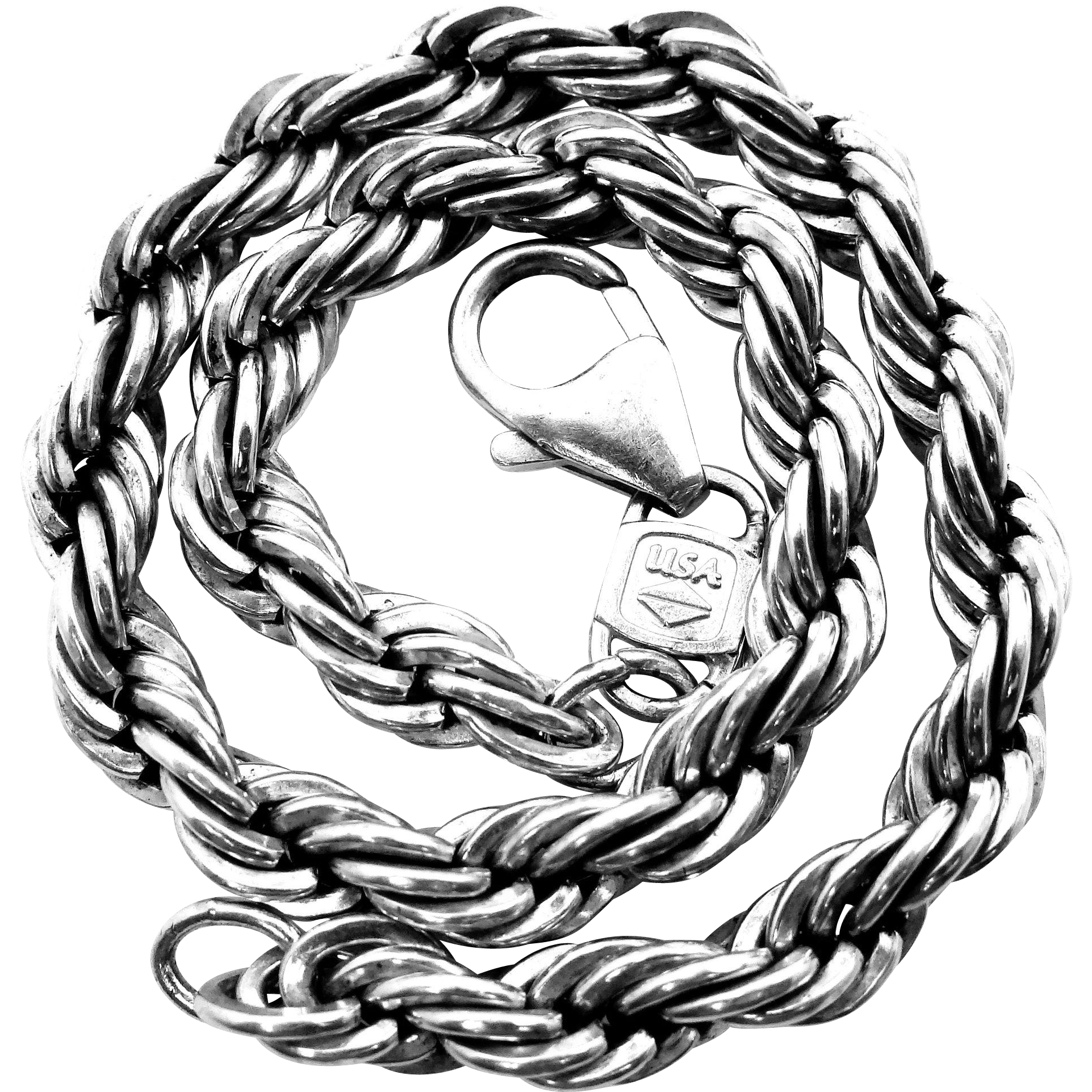 "999 Silver Thick Sterling 8"" Twisted Rope Braceclet"