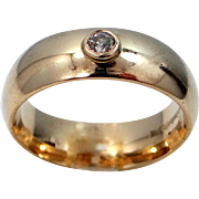 14k and Diamond Benchmark High Domed Comfort-Fit Man's Size 11 3/4 Ring