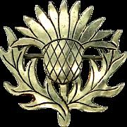Abbott Gotshall New Hampshire Artist Sterling Silver Thistle Pin