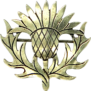 Albert Gotshall New Hampshire Artist Sterling Silver Thistle Pin
