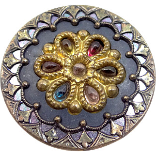 "Victorian Era ""Jeweled"" Clothing Button"