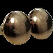 Victorian 14k Gold Disk Stud Earrings
