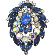 Juliana D&E Delizza Elster Blue Cat's Eye Pin