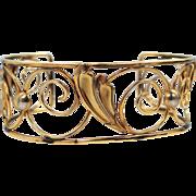 Walter Lampl Gold Filled Cuff Bracelet
