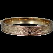 1940's Signed Krementz Bangle Bracelet