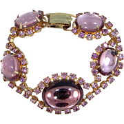 Vintage Pink Costume Jewelry Bracelet