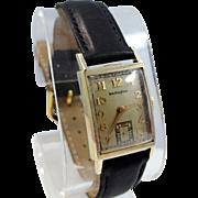 Man's 14k Solid Gold Hamilton 1940's 982 Wrist Watch
