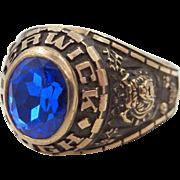 10k Solid Gold Berwick, PA Bulldogs High School Man's Ring 1979 17.3 Grams