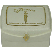 "1950's Famor Jewelers Hard Plastic Ring Box ""International Diamond Award Winner"""