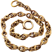 Late Victorian Era 14k Gold Bracelet