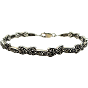 Sterling Silver and Marcasites Bracelet
